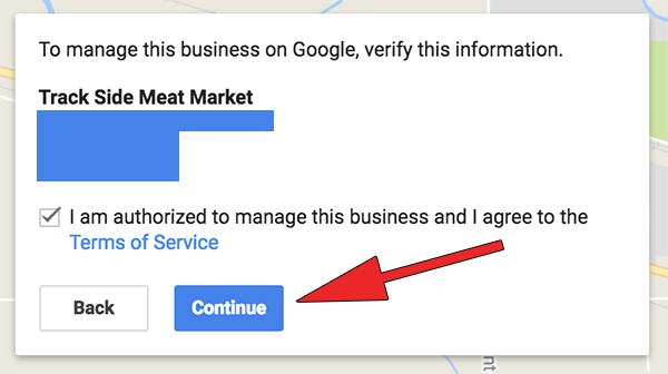 Google MyBusiness Authorized Prompt