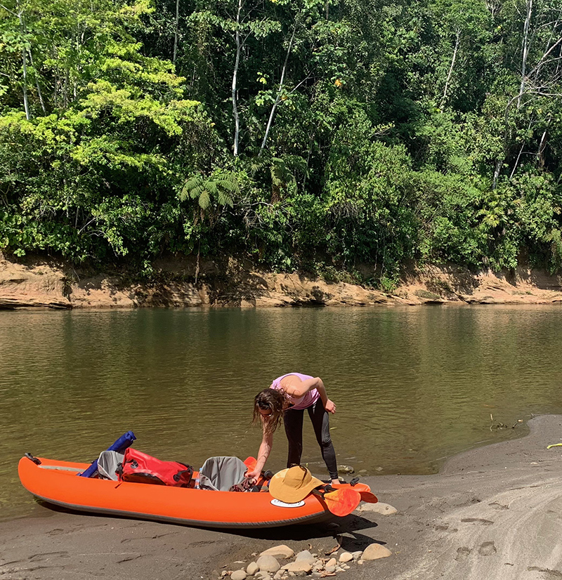 Kayaking the Arajuno River in the Amazon Rainforest