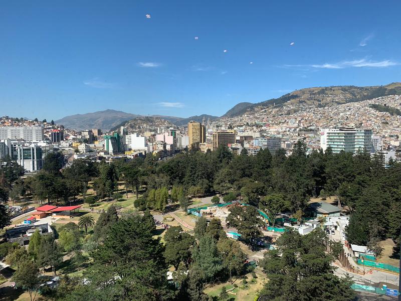 View from Hilton Quito Colon