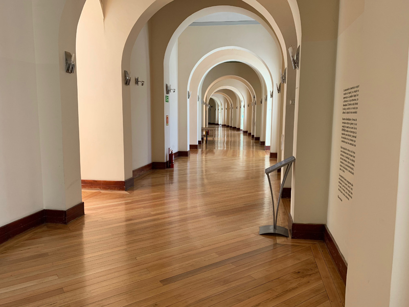 Hallway Inside Quito Modern Art Museum