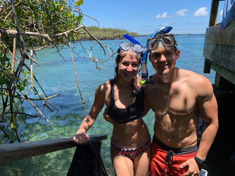 Snorkeling at Concha de Perla