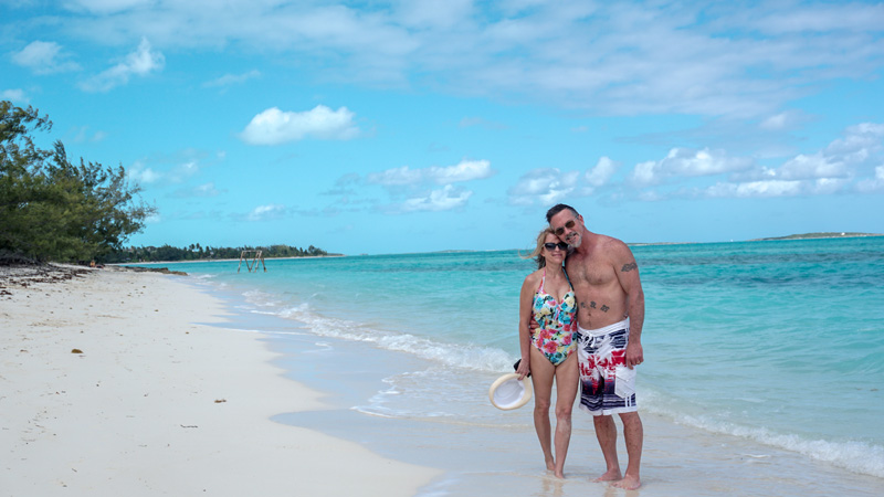 Mom and Dad at Coco Plum Beach